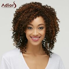 SHARE & Get it FREE | Fluffy Curly Synthetic Trendy Brown Mixed Medium Capless Wig For WomenFor Fashion Lovers only:80,000+ Items·FREE SHIPPING Join Dresslily: Get YOUR $50 NOW!