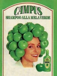 ad for Green Apple shampoo, because. Funny Vintage Ads, Vintage Humor, Vintage Advertisements, Vintage Toys, Vintage Posters, Retro Vintage, Sweet Memories, Childhood Memories, Nostalgia