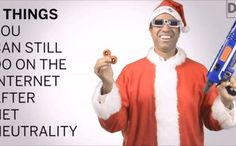Ajit Pai is so cocky over net neutrality he's dressing as Santa to take the pss. This is the day. This is the hour. This is the idiot deciding