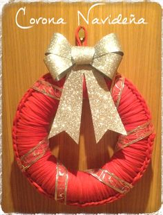 DIY: Corona Navidad con trapillo