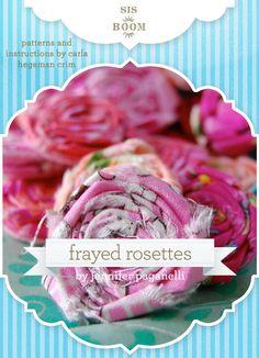 Free Sis Boom PDF Pattern - frayed rosettes