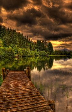 Ancient Dock, Loch Ard, Scotland