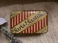 French Vintage Tin Paris Pastilles Shabby Chic French Boudoir Paris Appartment. $28.00, via Etsy.