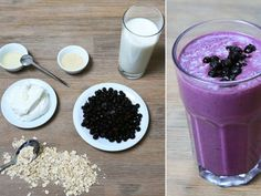 Smoothies Recipes Making protein shakes yourself Healthy Protein Shakes, Protein Smoothie Recipes, Low Carb Protein, Nutribullet Recipes, Vegan Smoothies, Superfood, Different Recipes, Food To Make, Milkshakes