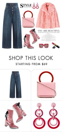 """Flare Up: Wide-Leg Jeans"" by erindream ❤ liked on Polyvore featuring RED Valentino, Marni, Chanel, Robert Clergerie, Mochi, Dolce&Gabbana, denimtrend and widelegjeans"