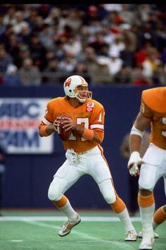 Quarterback Steve DeBerg of the Tampa Bay Buccaneers 1985