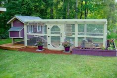 outside chicken enclosures | Pinned by Jennifer McBeth