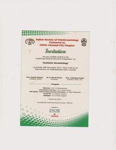 Invitation for Medical Education Programme on Aesthetic Dermatology