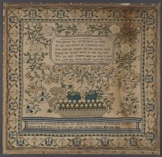 CATHARINE RIHL 1920--This is one of the prettiest samplers I have ever seen, beautiful work Catherine. :)