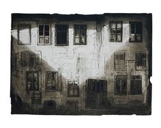 Safet Zec, White house, acquatint, etching and tempera, cm 100 x 140
