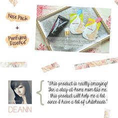 iWhite Nose Pack review of Deann http://www.deannsarmiento.com/review-iwhite-korea-purifying-essence-and-nose-pack.html
