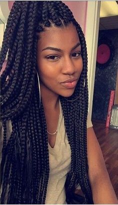 Find this Pin and more on * H A I R *. Super long box braids More