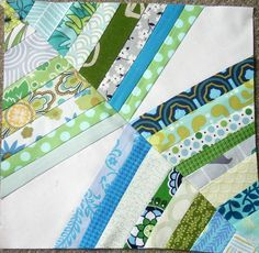 a different take on a string quilt - this is one block.