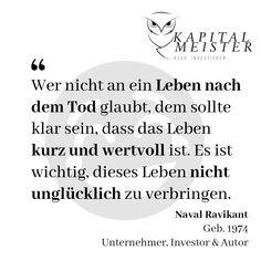 Sei nicht unglücklich. Genieße den Tag und arbeite an der Erfüllung deiner Träume.  #geld #wirtschaft #finanziellefreiheit #sparen #leben #ziele #lebenssinn #motivation #erfolg #erfolgreich #ziel #motiviert #träume #finanzen #zinsen #wien #österreich #zitate Budget Planer, Math Equations, Words, Author, Financial Peace, Life And Death, Stressed Out, Finance, Things To Do