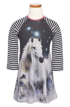 Twirls & Twigs 'Horse Sublimation' Dress (Toddler Girls, Little Girls & Big Girls) available at #Nordstrom