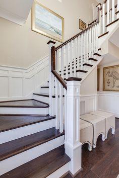 House of Turquoise: 2015 Coastal Virginia Magazine Idea House - Decoration for House House Of Turquoise, Coastal Living Rooms, Staircase Design, Staircase Railings, Staircases, House Stairs, House Built, Luxury Interior Design, Interior Trim