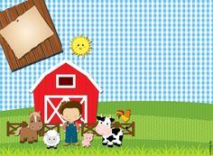 Kits Imprimibles Piquilin: Kit Imprimible Granja Nenes 2 GRATIS Farm Animal Birthday, Cowboy Birthday, Farm Birthday, Boy First Birthday, Farm Party Invitations, Barnyard Party, Barn Parties, Farm Theme, Farm Yard