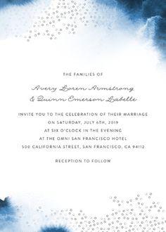 """Watercolor Dots"" - Beach, Hand Drawn Wedding Invitations in Agate by Maria Hilas Louie."