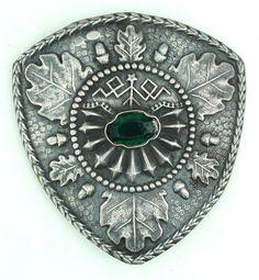 Vintage Latvian Silver Brooch 875*