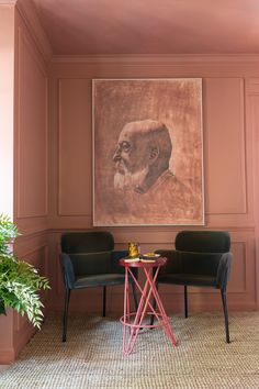 Farrow And Ball Living Room, Farrow And Ball Paint, Wall Colors, Paint Colors, Colours, Colorful Interiors, Red Interiors, Dining Room Paint, Red Floor
