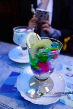 jelly soda, cafe soiree, Kyoto