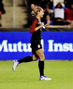 Lynn Williams scores her first international goal 50 seconds into the game in her first cap with the USWNT against Switzerland on October Lynn Williams, First International, Scores, Switzerland, October, Goals, Running, Female, Keep Running