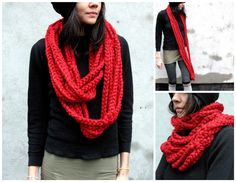 long cloud scarf if anyone with knitting/crocheting skills can post how to DIY
