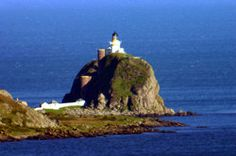 SANDA ISLAND Lighthouse.Peninsula of Kintyre.Scotland