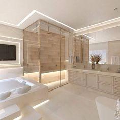 Modern Master Bathroom, Minimalist Bathroom, Dream Bathrooms, Beautiful Bathrooms, Mansion Interior, Dream House Interior, Luxury Homes Dream Houses, Bad Inspiration, Bathroom Inspiration
