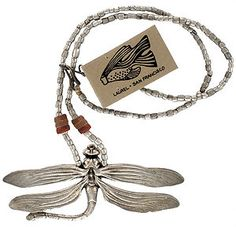 Google Image Result for http://i.ebayimg.com/t/NWT-Vintage-Laurel-Burch-DRAGONFLY-Ethiopian-Silver-Coral-Bead-Necklace-/00/s/MTU0M1gxNjAw/%24(KGrHqV,!pUE7BcvinrzBPzq08Uq8g~~60_35.JPG