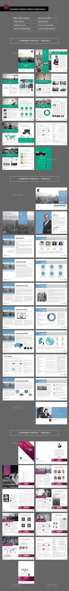 "Company Profile Brochures Pack (3-in-1) Template InDesign INDD. Download here: <a href=""http://graphicriver.net/item/company-profile-brochures-pack-3in1/16034601?ref=ksioks"" rel=""nofollow"" target=""_blank"">graphicriver.net/...</a>"