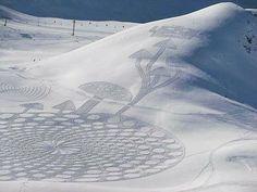 Snow circles....environmental art
