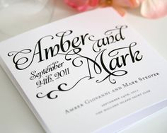 Alluring Script Wedding Programs, Purchase this Deposit to Get Started