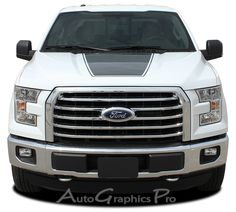 """2015-2016 Ford F-150 """"FORCE HOOD"""" Factory Style Vinyl Decal Graphic Stripes"""