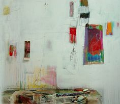 By anne-laure djaballah: picture of her studio wall