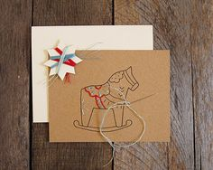 Diy Rocking Horse Dala Card Embroidery Kit