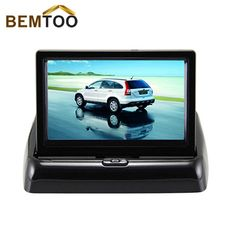 """Rear View Camera Parking Video 4.3"""" Foldable Tft Lcd Color Mirror Car Monitor on AliExpress"""