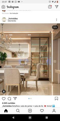 Luxury Dining Room, Dining Room Design, Kitchen Design, Home Decor Kitchen, Kitchen Interior, Home Interior Design, Sala Grande, Elegant Homes, Home Decor Furniture