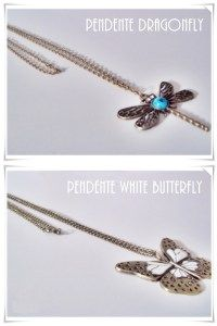 Pendente Dragonfly / Pendente White Butterfly