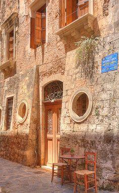 Venetian style Doorway in Crete by David_Ws, via Flickr Old town, Chania, Crete, Greece