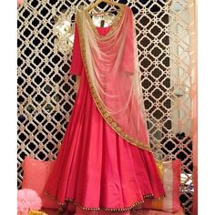 Pink Silk Embroidered Anarkali Suit