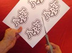 how to make graffiti stickers