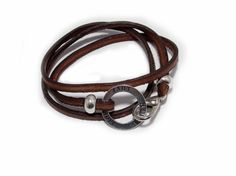 Leder Wickelarmbänder - Wickelarmband - Glaube-Liebe-Hoffnung - ein Designerstück von Handmadefactory-2 bei DaWanda