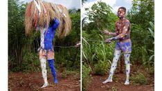 Charles Fréger et les «hommes bleus» du Togo, un jeu photographique - Afrique…