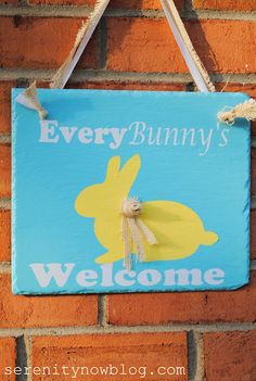 Bunny Silhouette Sign, via Serenity Now