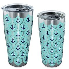 Show off your love for the coast with a Tervis Great Anchor Scallop Tumbler. A stainless steel design has nautical theme and double-wall insulation that keeps hot drinks hot and cold drinks cold. The travel lid helps prevent spills when you& on the go. Insulated Cups, Tumblers With Lids, Tumbler Designs, Drinkware, Household Items, Coffee Cups, Nautical Theme, Nautical Style, Anchors