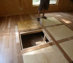 Storage hatches in the floor also good access to plumbing if  it needed repaired
