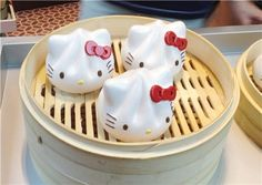 cute Hello Kitty dumplings