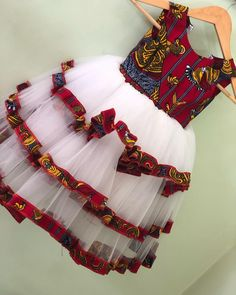 Baby African Clothes, African Dresses For Kids, Latest African Fashion Dresses, Dresses Kids Girl, Kids Dress Wear, Kids Gown, South African Traditional Dresses, African Print Dress Designs, Kids Dress Patterns