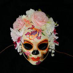 Katrina Dia de los Muertos Koi Fish Mask Day of the by Masquefaire, $70.00